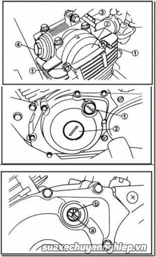 Hướng dẫn canh chỉnh khe hở xupap trên xe máy - 6