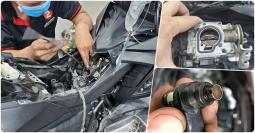 Dịch vụ vệ sinh họng xăng và kim phun giúp xe tiết kiệm nhiên liệu